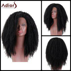 Adiors Long Shaggy Kinky Curly Side Part Lace Front Synthetic Wig