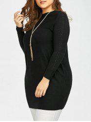Plus Size Knitted Top - BLACK