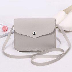 Envelope Cross Body Mini Bag - LIGHT GREY