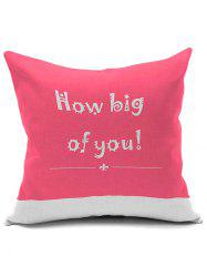 Letter Word Print Short Plush Square Pillow Case