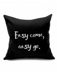 Easy Come Easy Go Letter Print Short Plush Pillow Case
