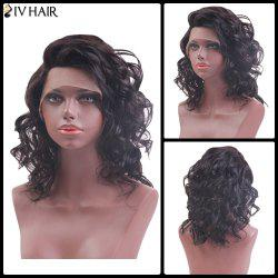 Siv Hair Medium Side Part Curly Lace Front Human Hair Wig