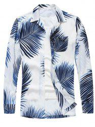 Tropical Print Long Sleeve Shirt -