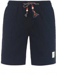 Drawstring Casual Shorts - BLACK