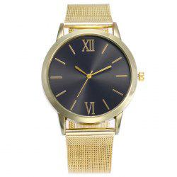 Metallic Mesh Band Analog Watch