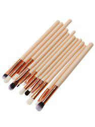 12 Pcs Fiber Eye Makeup Brushes Set - PINK