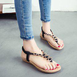 Metal Embellishment Elastic Band Sandals
