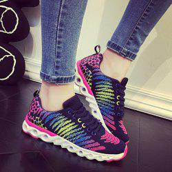 Multicolor Mesh Athletic Shoes