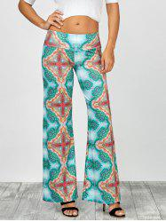 Cross Print Long Wide Leg Palazzo Pants