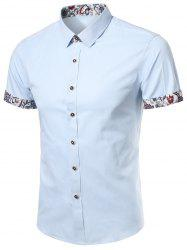 Floral Detail Short Sleeve Shirt