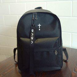 Strap Detail Nylon Casual Backpack