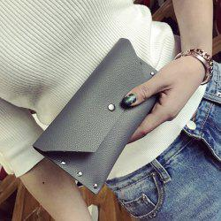Textured Faux Leather Clutch Wallet
