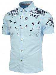 Rose Pattern Short Sleeves Shirt