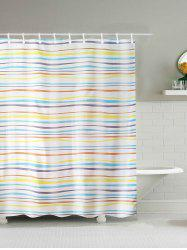 Stripe Water Repellent Polyester Shower Curtain