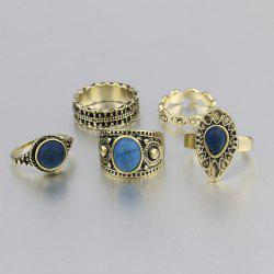 Vintage Engraved Ring Set - GOLDEN