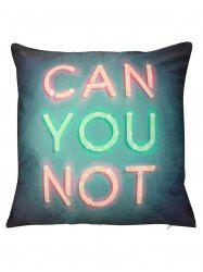 Can You Not Print Short Plush Square Pillow Case