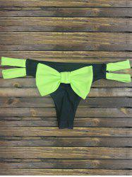 Back Bowknot Cut Out Strappy Skimpy Bikini Bottom