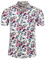 Floral Printed Plus Size Shirt