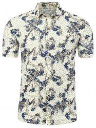 All Over Print Button Plus Size Shirt