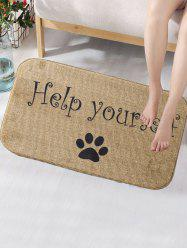 Dog Paw Print Skidproof Bathroom Rug