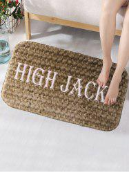 High Jack Print Straw Flannel Foam Bath Mat
