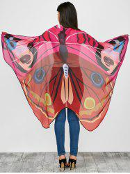 Vivid Chiffon Butterfly Wing Cape Pashmina with Straps