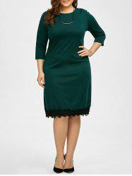 Plus Size Lace Panel Dress