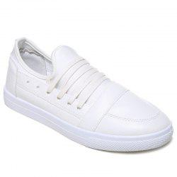 Stretch Fabric Faux Leather Casual Shoes