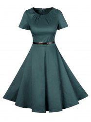 Vintage Short Sleeve Skater Dress