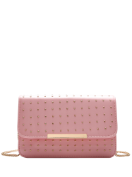 Cross Body Chains Rivet Bag - PINK