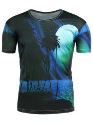 3D Nightscape Printed T-Shirt