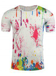 Short Sleeve Paint Splatter T-Shirt