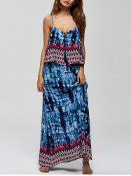 Maxi Tie Dye Boho Slip Dress for Summer