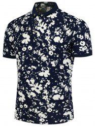 Flowers Printed Polo T-Shirt