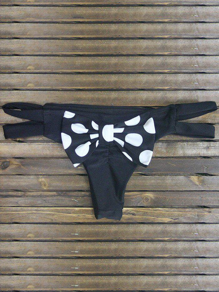 Chic Back Bowknot Cut Out Strappy Skimpy Bikini Bottom
