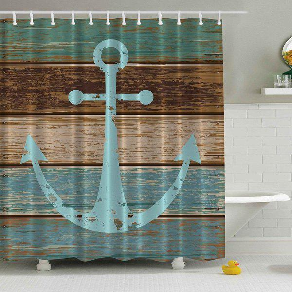 Anchor Print Waterproof Mildewproof Shower CurtainHOME<br><br>Size: 180*200CM; Color: COLORMIX; Products Type: Shower Curtains; Materials: Polyester; Pattern: Anchor; Style: Vintage; Package Contents: 1 x Shower Curtain;
