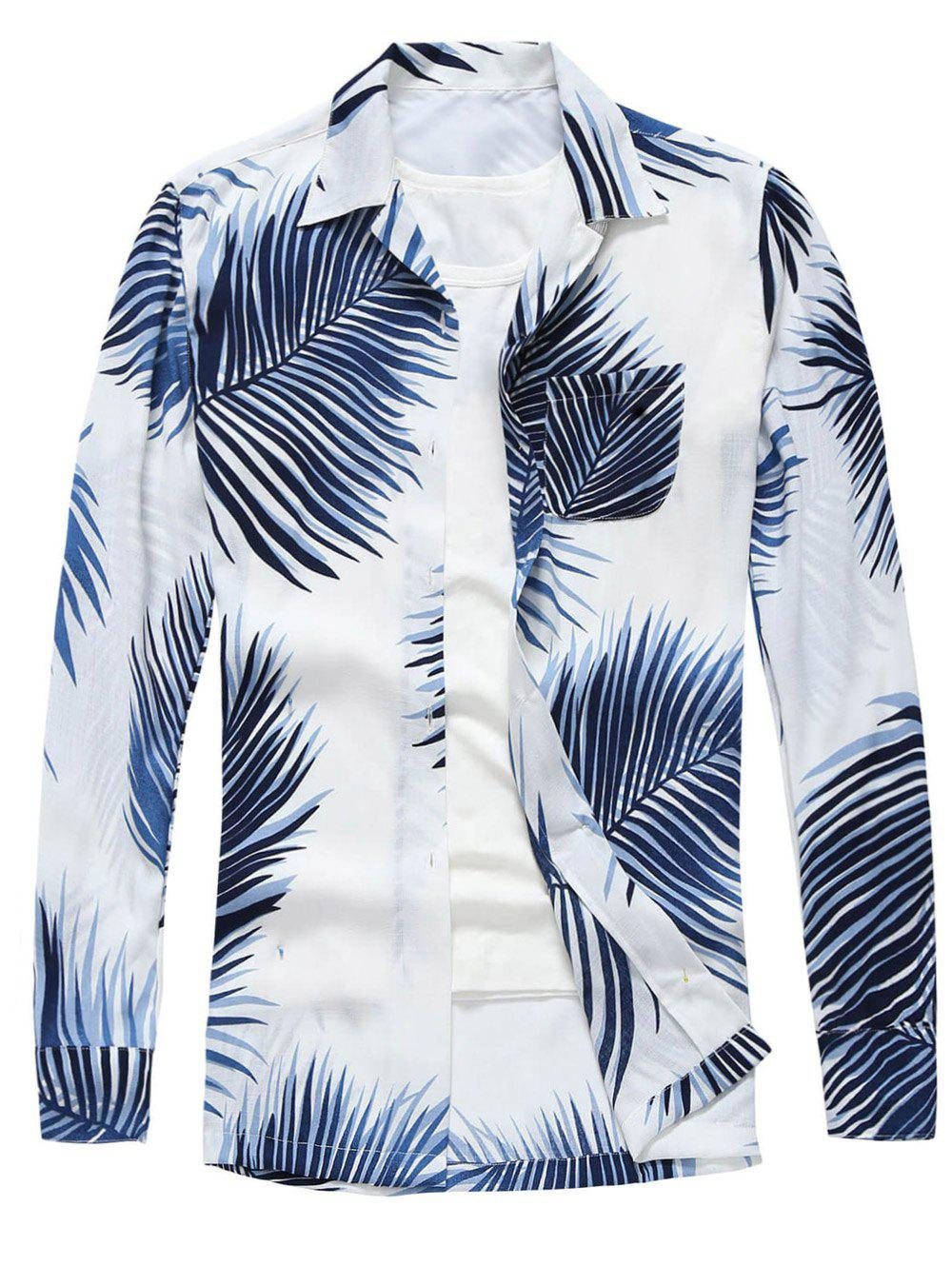 New Tropical Print Long Sleeve Shirt