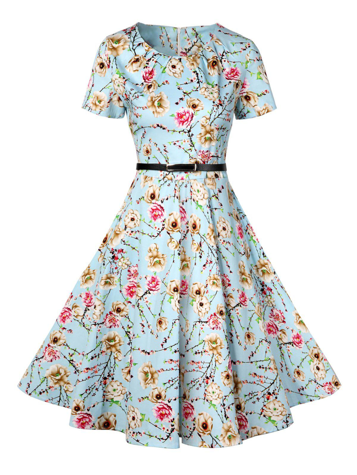 Outfits Retro Knee Length Pin Up Dress