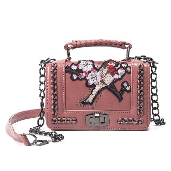 Outfits Embroidered Cross Body Chains Bag