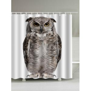 Digital Owl Art Print Waterproof Shower Curtain - Dun - 180*200cm
