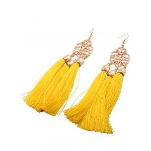 Alloy Engraved Tassel Earrings -