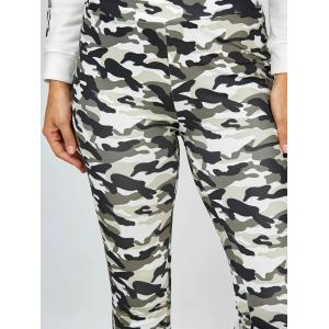 High Waisted Camo Leggings - JUNGLE CAMOUFLAGE XL