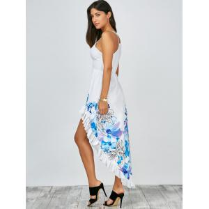 Floral Ruffles Fishtail Boho Slip Dress -