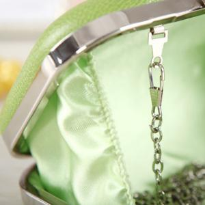 Chains Flower Hollow Out Evening Bag - CLOVER