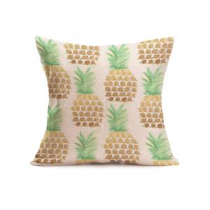 Pineapple Print Linen Sofa Throw Pillow Case