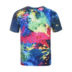 3D Colorful Splatter Paint Tie Dye Print T-Shirt - COLORMIX 4XL