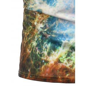 3D Tie Dye Print Short Sleeve Trippy T-Shirt -