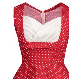 Sweetheart Neckline Polka Dot Pin Up Prom Dress -