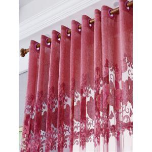 European Sheer Window Flower Tulle Curtain For Living Room -
