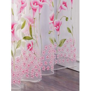 Calla Lily broderie Fenêtre Sheer Tulle Pour Chambre -